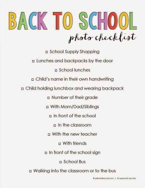 Back to School Pictures I Won't Be Taking